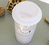 Чашка з кришкою беж кераміка 1020340, фото 3