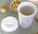 Чашка з кришкою беж кераміка 1020340, фото 4