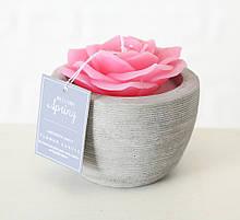 Декоративна свічка «Троянда у горщику» віск һ6см 1014359