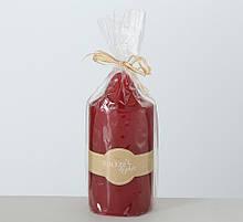 Декоративна свічка червоний віск һ15см 1009029