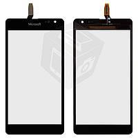 Touchscreen (сенсорный экран) для Microsoft (Nokia) Lumia 535, CT2C1607FPC-A1-E, черный, оригинал