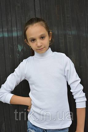 Гольф подростковый белого цвета, фото 2