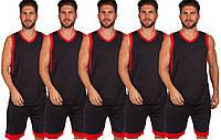 Форма баскетбольная мужская BasketBall Unifrom чёрно-красный (LD-8017), фото 1
