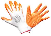 Перчатки защитные Vulkan SFG20028 Вампир, оранжевые, ПВХ точки