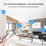 Sonoff 4CH R3 WiFi16А 3500W AC 220V 4-х канальный интеллектуальный Wi-Fi  Smart модуль реле, фото 4