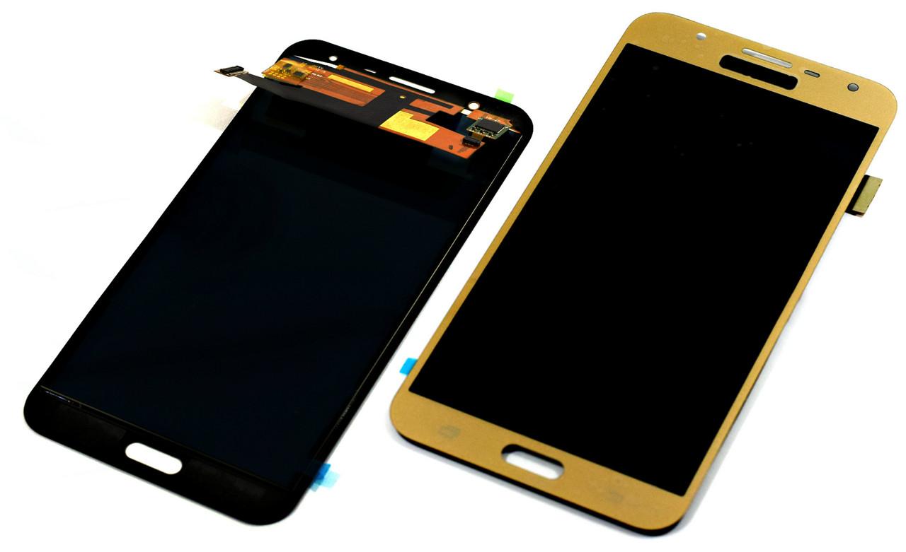 Дисплей для Samsung J701 Galaxy J7 Neo золотистый, с тачскрином High Copy (с регулир. подсветкой)