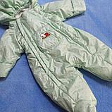 Комбинезон демисезонный для новорожденного на флисе с капюшоном на замке., фото 3