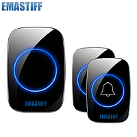 Дверной беспроводной звонок Emastiff A12 с двумы кнопками вызова, Черный