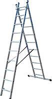 Лестница ELKOP VHR Trend 2x10 алюминиевая, 2 секции, 10 ступеней