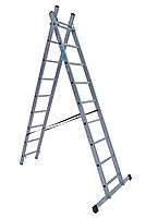 Лестница ELKOP VHR Trend 2x9 алюминиевая, 2 секции, 9 ступеней