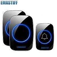 Беспроводной дверной звонок Emistaff A12 с двумя базами, Черный