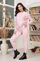 Вязаный костюм розовый 42-46, фото 1