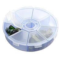 Пластиковый круглый органайзер на 8 отделений, фото 1