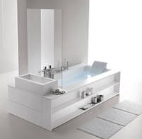 Sensual 250*120 ванна из материала Corian AIRPOOL, левая