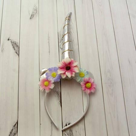 Рог Единорога (серебро) с цветами, фото 2