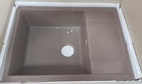 Кухонна гранітна мийка Інтерлайн Королівський Шоколад 50*68см