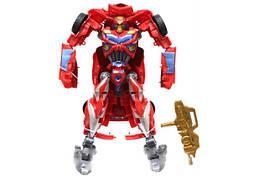 """Игрушка робот-трансформер машинка, игровая фигурка Maya Toys """"Красный спорткар"""" 18 см, красный"""