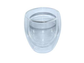 Скляний стакан з подвійними стінками 250мл