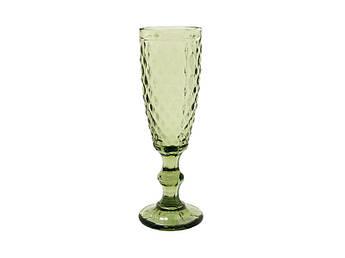 Бокал для шампанского Изумруд 2 зеленый 150мл