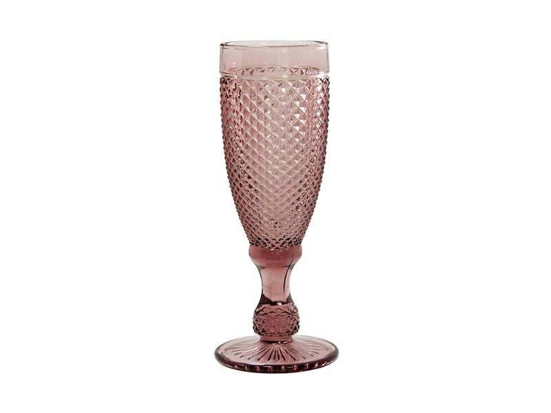 Бокал для шампанского Амбер розовый 150мл