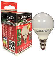 Лампа LED ДШ 6W-E14-4000K 540Lm LU-P45-06144 (100шт/ящ) (24міс.гарантії) TM LUMANO