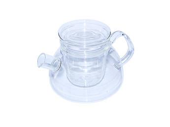 Стеклянный заварник со стеклянным фильтром Суоми 1,1л