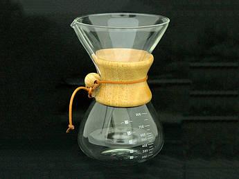 Стеклянный кемекс для кофе 800мл
