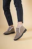 Женские замшевые ботинки цвета капучино, фото 2