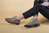 Женские замшевые ботинки цвета капучино, фото 3