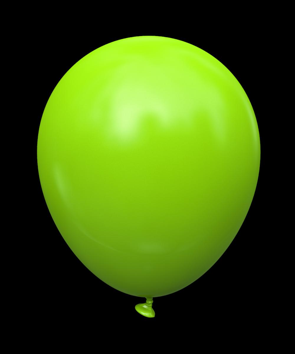 """5 STD Салатовый (lime green). Шары воздушные латексные без рисунка 5"""" (100 шт)"""