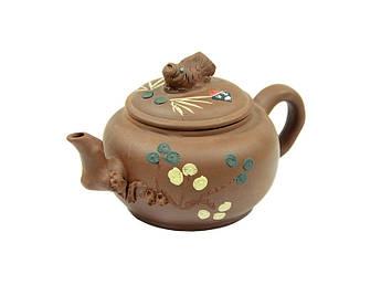 Заварочный чайник из глины Рыбка 450мл