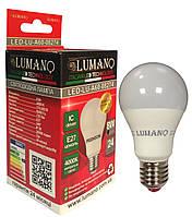 Лампа LED A60-7W-E27-4000K 630Lm LU-A60-07274 (100шт/ящ) (24міс.гарантії)  TM LUMANO