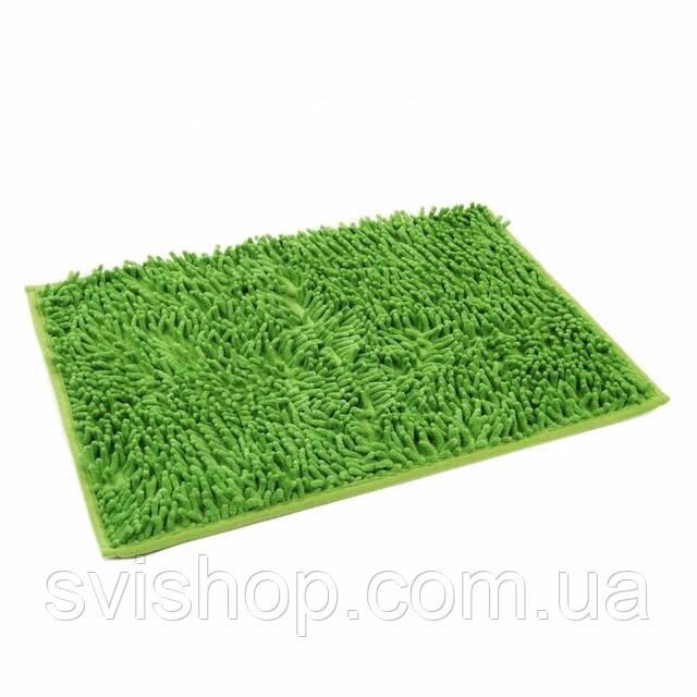 Коврик для ванной из микрофибры лапша 40 * 60 см. Зелёный