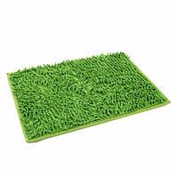 Коврик для ванной из микрофибры лапша 40 * 60 см. Зелёный, фото 1