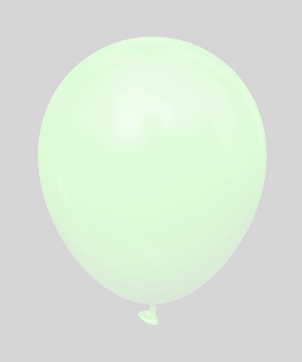 """5 STD Зеленый макарун  GREEN macaron). Шары воздушные латексные без рисунка 5"""" (100 шт)"""
