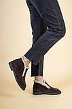 Ботинки женские замшевые шоколадного цвета зимние, фото 5