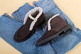 Ботинки женские замшевые шоколадного цвета зимние, фото 10