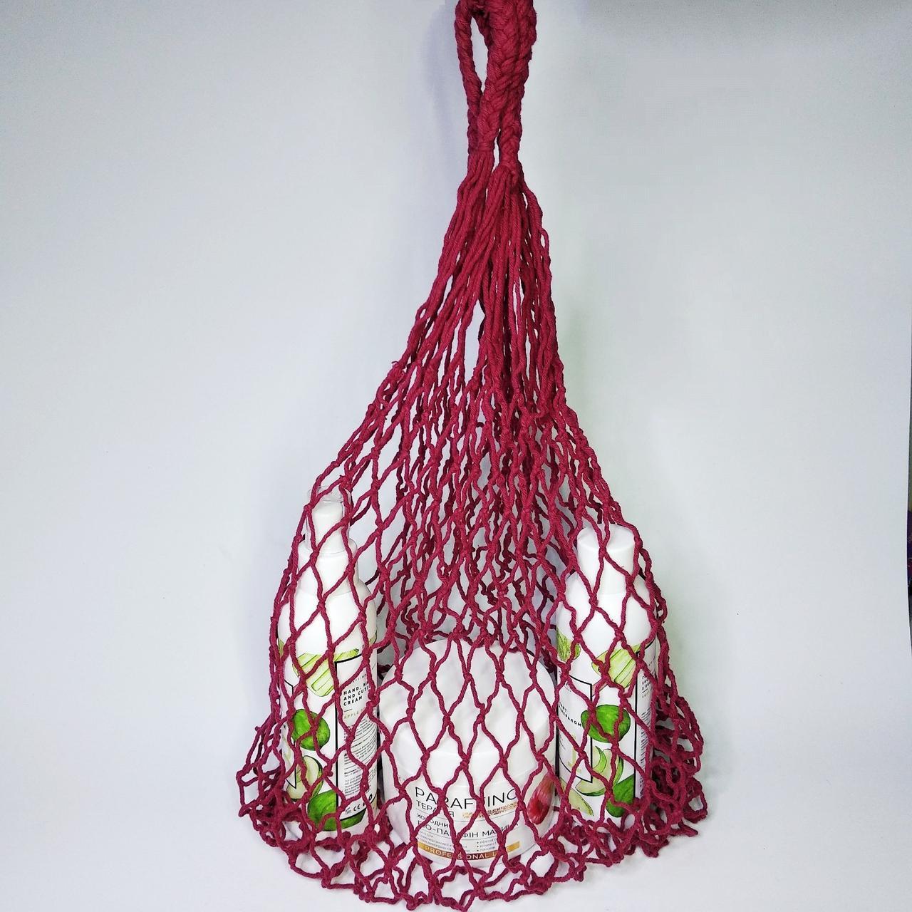 Сумка Авоська-сетка, малиновая