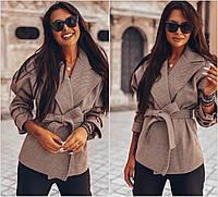 Женское короткое кашемировое пальто 4047