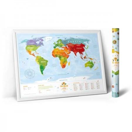 Скретч карта мира KIDS ANIMALS