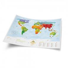 Скретч карта мира KIDS ANIMALS, фото 2