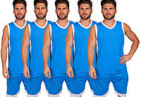 Форма баскетбольная мужская BasketBall Unifrom голубой/белый (LD-8017), фото 1