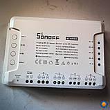 Sonoff 4CH PROR3 WiFi  40А 8800W AC 220V DC 9-24V 4-х канальный коммутатор + RF пульт ДУ, фото 4