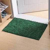 Коврик для ванной из микрофибры лапша 50х80см.Зеленый цвет., фото 1