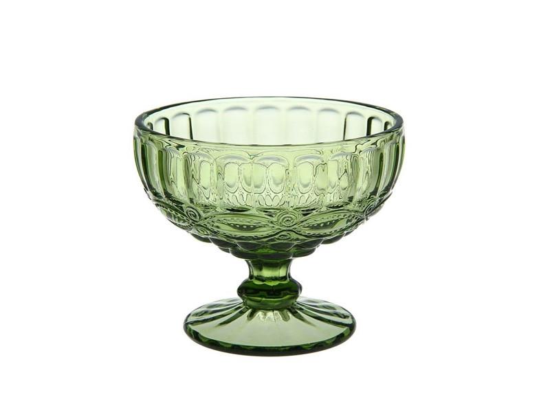 Креманка Винтаж зеленая (широкий бокал) 300мл