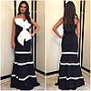 Платье с контрастными вставками и крупным банком (разные расцветки), фото 4