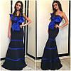 Платье с контрастными вставками и крупным банком (разные расцветки), фото 3