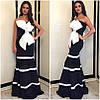 Платье с контрастными вставками и крупным банком (разные расцветки), фото 5