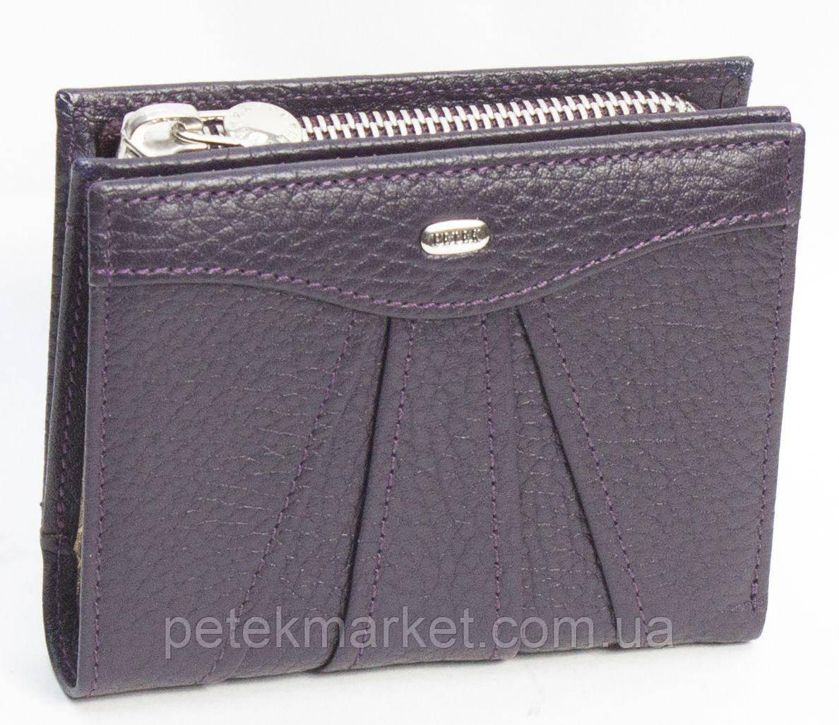 Женское портмоне Petek 428, Сиреневый, 1, 5+, Вертикальное, Естественная фактура, Снаружи, Матовая,