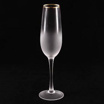 Келихи для шампанського Голд Рим 250мл 4шт